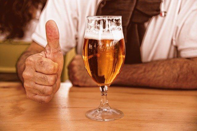 biere dans un verre
